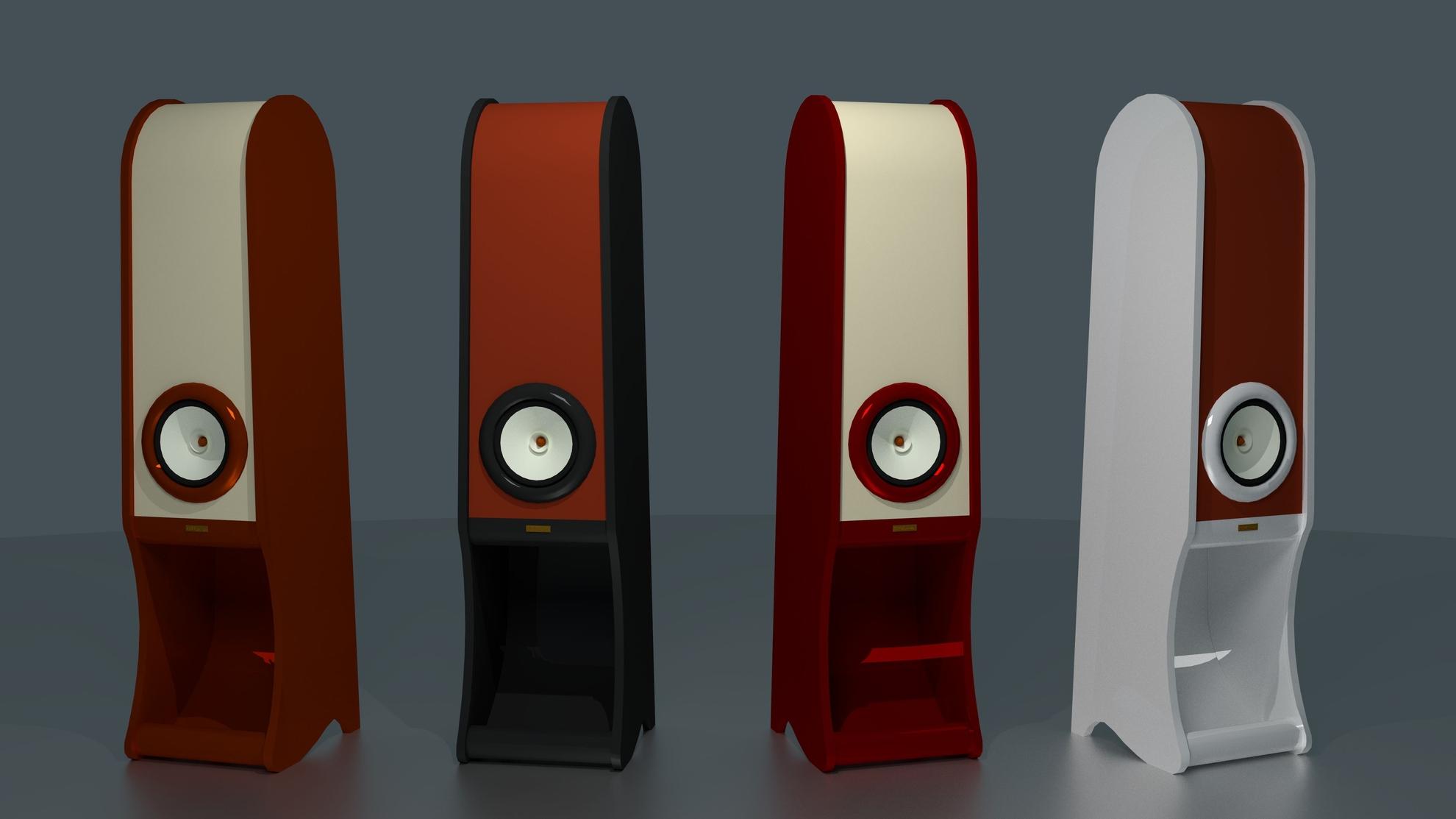 High End speakers Evolution RDacoustic varnish color options
