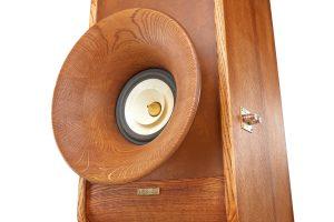 High End reproduktorové soustavy Evolution, přední horn Oris500 + Voxativ AC1.8 wooden cone