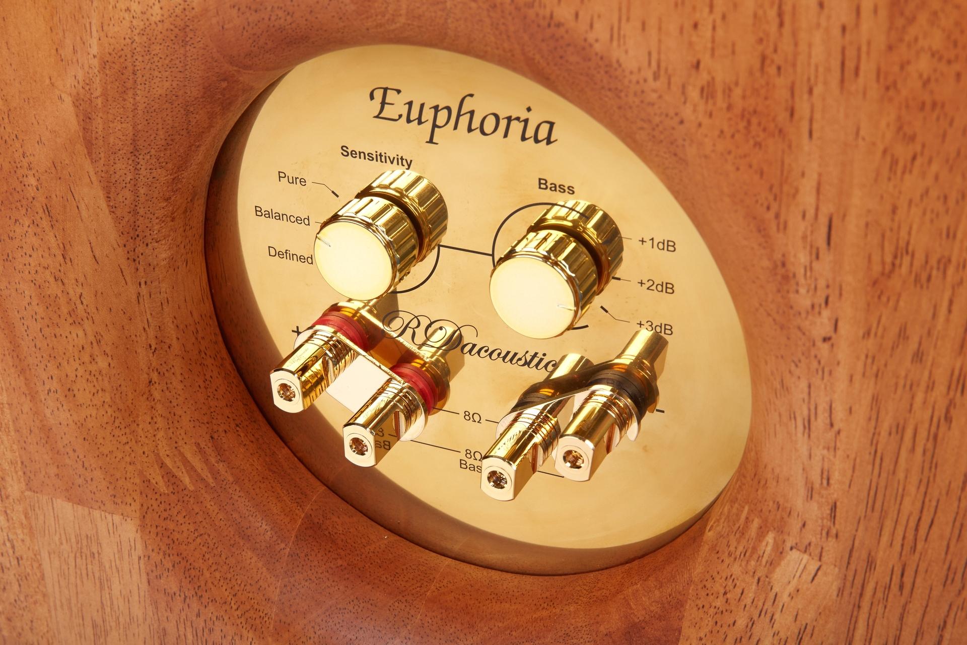 High End reproduktorové soustavy Euphoria - propojovací terminály