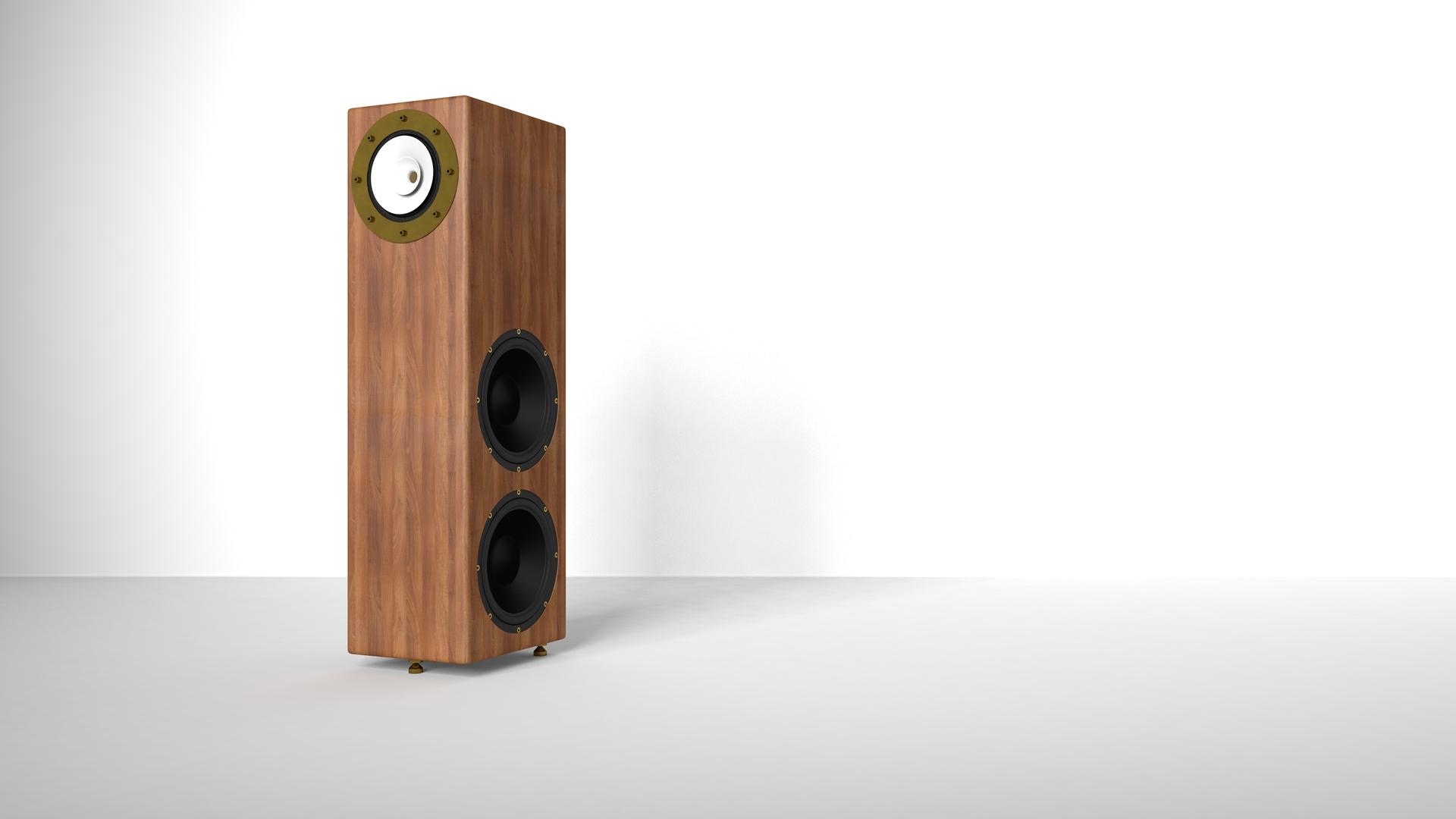 RDacoustic speakers Viruoso full range + 2x woofer driver,  stereo 2.0 surround 5.1, 7.1 Left